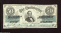 Confederate Notes:1863 Issues, T57 $50 1863. This scarce 1st Series variety (414A) has qualityplain paper with Keatinge & Ball above Fundable and features...