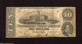 Confederate Notes:1863 Issues, T59 $10 1863. This note has a very colorful back and is completesave for numerous holes. Very Good....