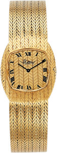 Estate Jewelry:Watches, Bueche Girod Lady's Gold Watch, retailed by Ruser. ...