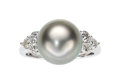 Estate Jewelry:Rings, South Sea Cultured Pearl, Diamond, White Gold Ring...