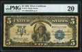 Large Size:Silver Certificates, Fr. 279 $5 1899 Silver Certificate PMG Very Fine 20.. ...