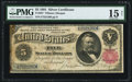 Large Size:Silver Certificates, Fr. 267 $5 1891 Silver Certificate PMG Choice Fine 15 Net.. ...
