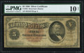 Large Size:Silver Certificates, Fr. 262 $5 1886 Silver Certificate PMG Very Good 10 Net.. ...
