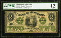 Obsoletes By State:Minnesota, St. Paul, MN- Bank of Minnesota $2 July 4, 1862 G4a Hewitt B680-D2....