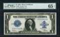Large Size:Silver Certificates, Fr. 239 $1 1923 Silver Certificate PMG Gem Uncirculated 65 EPQ.....