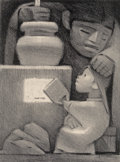 Prints & Multiples, Jean Charlot (1898-1979). Mexican Kitchen, 1946. Lithograph on paper. 13-3/8 x 10 inches (34 x 25.4 cm) (image). 17-1/8 ...