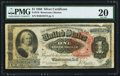 Large Size:Silver Certificates, Fr. 218 $1 1886 Silver Certificate PMG Very Fine 20.. ...