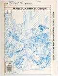 Original Comic Art:Miscellaneous, Dave Cockrum (attributed) Marvel Two-In-One #45 CoverPreliminary Artwork The Thing and Captain Marvel Original Ar...