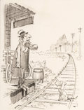 Original Comic Art:Miscellaneous, Jack Davis Commuter Preliminary Original Art (c. 1960s)....
