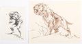 Original Comic Art:Sketches, Roy G. Krenkel - Caveman and Saber-Toothed Tiger Sketches Original Art Group of 2 (undated).... (Total: 2 Original Art)