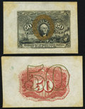 Fractional Currency:Second Issue, Fr. 1314SP 50¢ Second Issue Wide Margin Face New;. Fr. 1314SP 50¢ Second Issue Wide Margin Back Choice About New.. ... (Total: 2 notes)