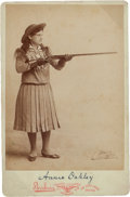 "Photography:Cabinet Photos, Annie Oakley: An Exceptional ""Signed"" Cabinet Photo. ..."