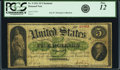 Large Size, Fr. 4 $5 1861 Demand Note PCGS Fine 12.. ...
