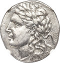 Ancients:Greek, Ancients: AEOLIS. Myrina. Ca. 155-145 BC. AR tetradrachm (32mm,15.84 gm, 12h). NGC XF 5/5 - 3/5....