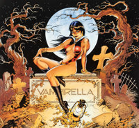 Dave Stevens Back From the Grave Signed Limited Edition Vampirella Lithograph Print #687/850 (Harris, 1992)