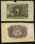 Fractional Currency:Second Issue, Fr. 1283SP 25c Second Issue Wide Margin Pair Very Fine.. ... (Total: 2 notes)