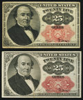 Fractional Currency:Fifth Issue, Fr. 1308 25¢ Fifth Issue VF;. Fr. 1309 25¢ Fifth Issue Choice New..... (Total: 2 notes)