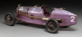 Decorative Arts, French:Other , A French CIJ Alfa Romeo Purple Clockwork Model P2 Grand Prix Car,circa 1935. 6-1/2 x 21 x 7-1/4 inches (16.5 x 53.3 x 18.4 ...