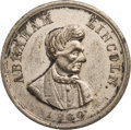 Political:Tokens & Medals, Abraham Lincoln: Campaign Token by Charles Lang....