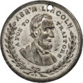 """Political:Tokens & Medals, Abraham Lincoln: """"Foe to Traitors"""" Token...."""