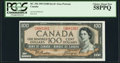 Canadian Currency, BC-43a $100 1954 PCGS Choice About New 58PPQ.. ...