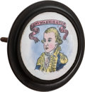 Political:3D & Other Display (pre-1896), George Washington: Battersea or Bilston Curtain Tie-Back. ...