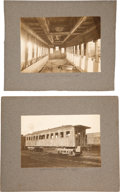Political:Memorial (1800-present), Abraham Lincoln: Photographs of Funeral Train Private Carriage. ... (Total: 2 Items)