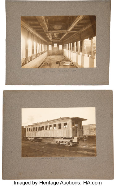 Abraham Lincoln Photographs Of Funeral Train Private Carriage