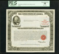 Large Size, Serial Number 9 $100,000 United States Treasury Bond Due August 15, 1963 PCGS Choice About New 58.. ...