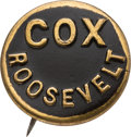 Political:Pinback Buttons (1896-present), James M. Cox: Rare Embossed Brass Shell Name Pin....
