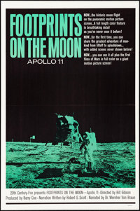 "Footprints on the Moon: Apollo 11 & Other Lot (20th Century Fox, 1969). Folded, Very Fine. One Sheets (2) (27""..."