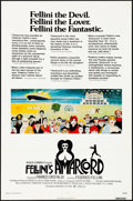 "Movie Posters:Foreign, Amarcord (New World, 1974). One Sheet (27"" X 41"") Review Style, Giuliano Geleng Artwork. Foreign.. ..."