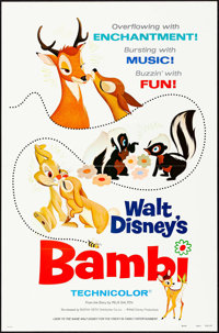"Bambi & Other Lot (Buena Vista, R-1975). Folded, Overall: Very Fine. One Sheets (2) (27"" X 41"") &a..."