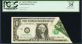 Error Notes:Foldovers, Printed Foldover Error Fr. 1913-L $1 1985 Federal Reserve Note.PCGS Very Fine 35.. ...
