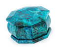 Lapidary Art:Boxes, Octagonal Shattuckite Box. Artist: Konstantin Libman. Stone Source: Congo, Africa. 2.66 x 2.66 x 1.56 inches (6.75 x 6.75 ...