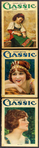 """Movie Posters:Miscellaneous, Motion Picture Classic (Brewster Publications, 1922). Magazines (3) (Multiple Pages, 9.5"""" X 12.5"""") Benjamin Eggleston & L. B... (Total: 3 Items)"""