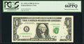 Error Notes:Obstruction Errors, Fr. 1932-A $1 2006 Federal Reserve Note. PCGS Gem New 66PPQ.. ...