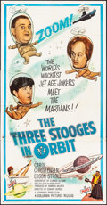 """Movie Posters:Comedy, The Three Stooges in Orbit (Columbia, 1962). Three Sheet (41"""" X 78.75""""). Comedy.. ..."""