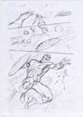 Original Comic Art:Miscellaneous, Alan Davis Captain America V6#7 Story Page 10 PreliminaryArtwork Original Art (Marvel, 2012)....
