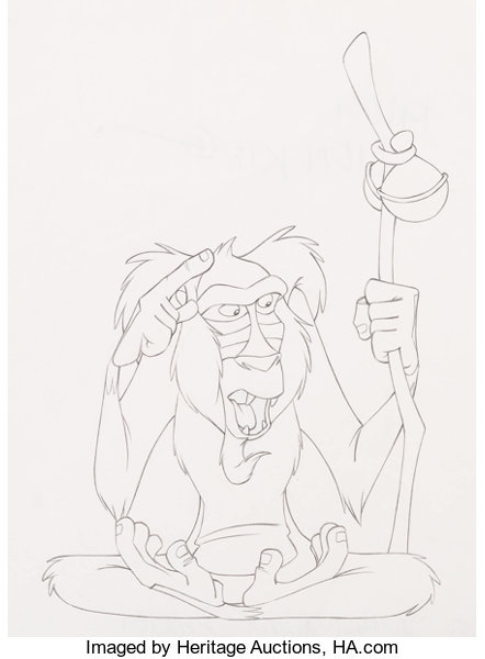 Animation ArtProduction Drawing The Lion King II Simbas Pride Rafiki