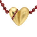 Estate Jewelry:Necklaces, Multi-Stone, Gold Necklace, Kieselstein-Cord. ...