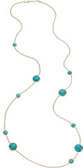 Estate Jewelry:Necklaces, Turquoise, Gold Necklace, Ippolita . ...