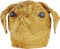 Estate Jewelry:Brooches - Pins, Sapphire, Gold Brooch The pug brooch features ...