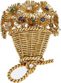 Estate Jewelry:Brooches - Pins, Diamond, Sapphire, Emerald, Gold Brooch, Tiffany & Co.. ...