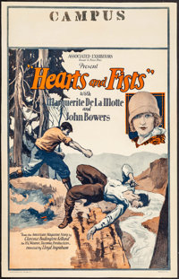 "Hearts and Fists (Associated Exhibitors, 1926). Window Card (14"" X 22""). Adventure"