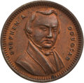 """Political:Tokens & Medals, Stephen A. Douglas: """"Mind Your Own Business"""" Token...."""