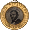 Political:Ferrotypes / Photo Badges (pre-1896), Ulysses S. Grant: Minty, Back-to-Back Ferrotype Badge....