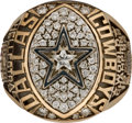 Football Collectibles:Others, 1992 Dallas Cowboys Super Bowl XXVII Championship Ring Presented to Long Snapper Dale Hellestrae.. ...