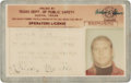 Baseball Collectibles:Others, Late 1960's Mickey Mantle Signed Texas Driver's License.. ...