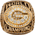 Football Collectibles:Others, 1996 Green Bay Packers Super Bowl XXXI Championship Ring Presented to Scout.. ...